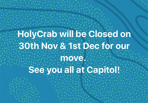 We will be closed on 30th Nov & 1st Dec for our move.
